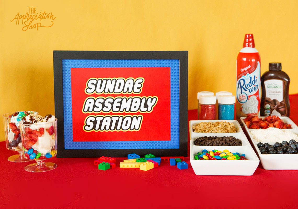 Sundae Assembly Station Sign + Labels - The Appreciation Shop