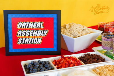 Oatmeal Assembly Station Sign + Labels - The Appreciation Shop