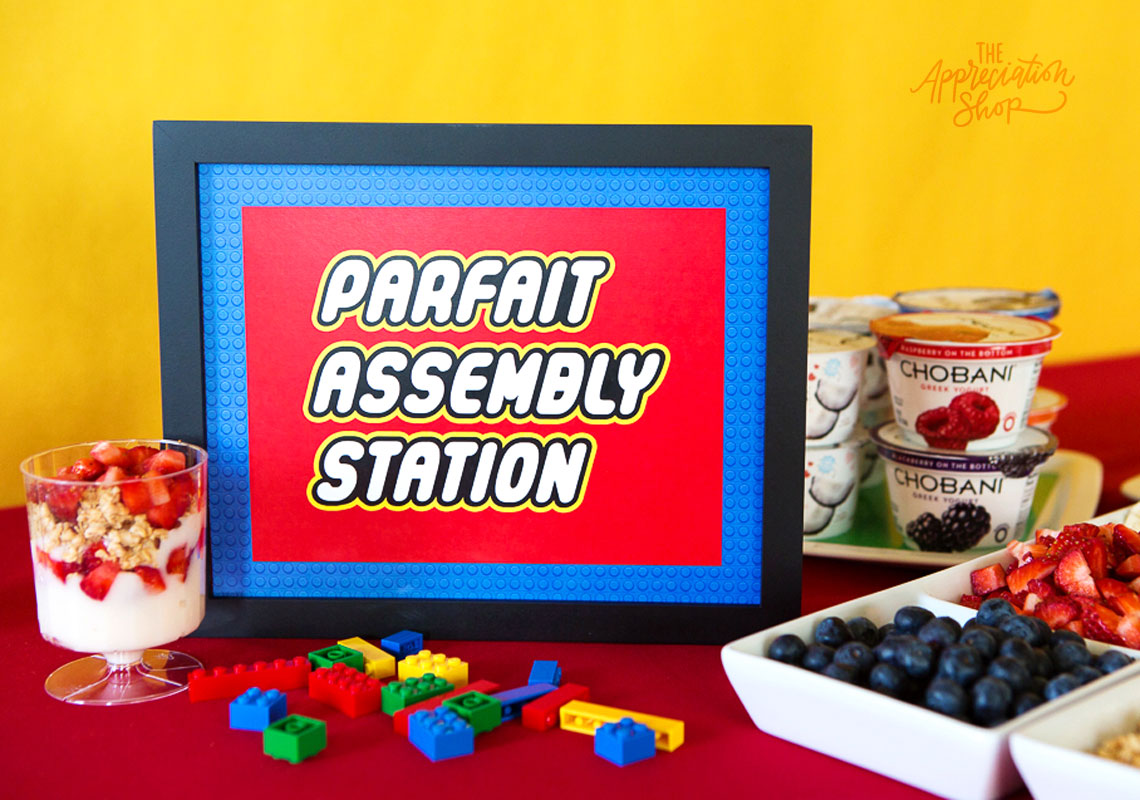 Parfait Assembly Station Sign + Labels - The Appreciation Shop
