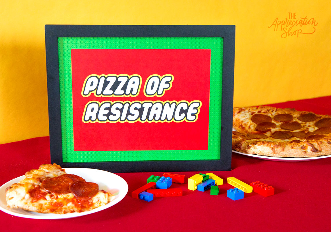 """Pizza of Resistance"" Sign + Labels - The Appreciation Shop"