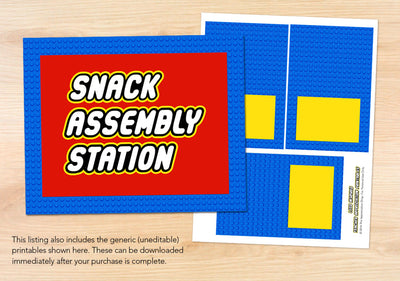 Snack Assembly Station Sign + Labels - The Appreciation Shop