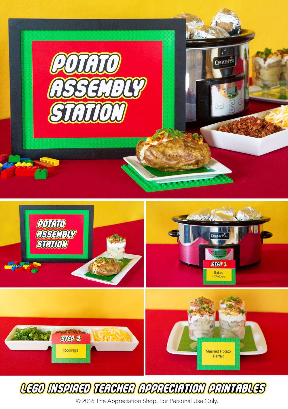 Potato Assembly Station Sign + Labels - The Appreciation Shop