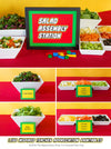 Salad Assembly Station Sign + Labels - The Appreciation Shop