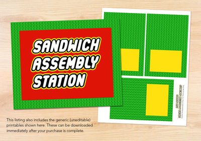Sandwich Assembly Station Sign + Labels - The Appreciation Shop
