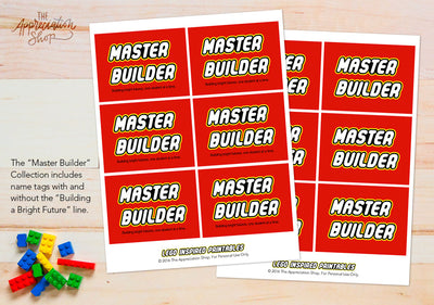 Master Builder Badges and Posters - The Appreciation Shop