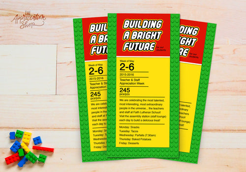 """Building a Bright Future"" Appreciation Week Invitation - The Appreciation Shop"