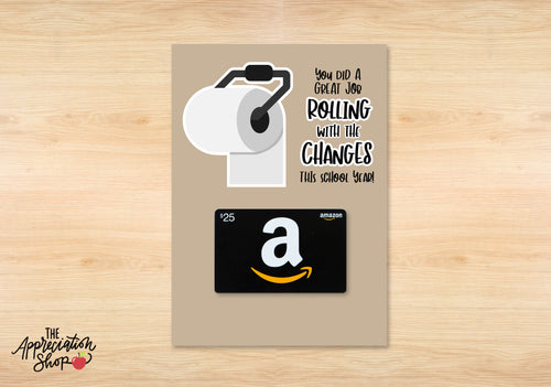 """Rolling with the Changes"" Gift Card Holder (School Version) - The Appreciation Shop"