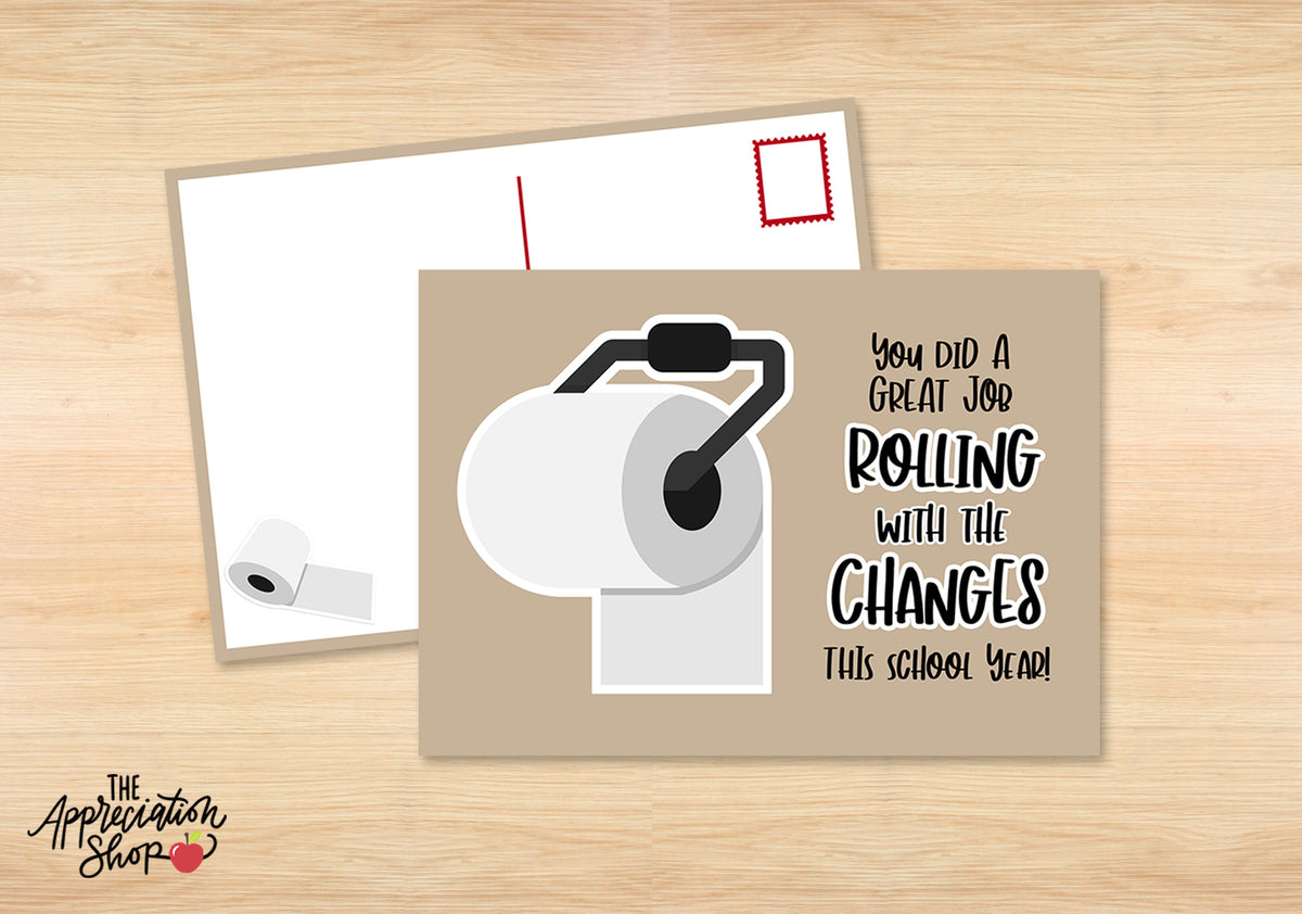"""Rolling with the Changes"" Postcard (School Version) - The Appreciation Shop"