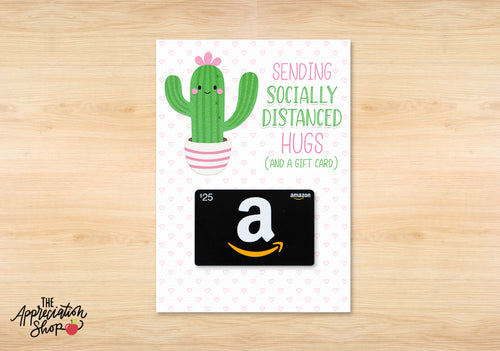 """Socially Distanced Hugs"" Gift Card Holder - The Appreciation Shop"