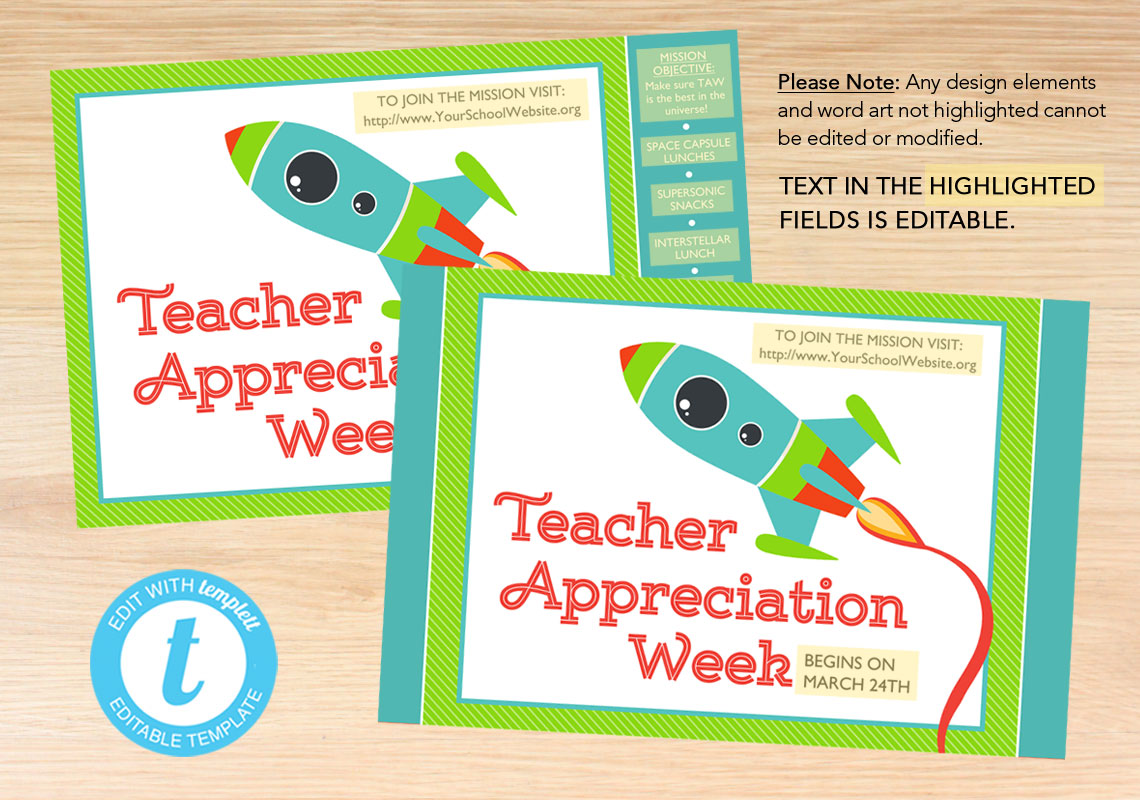 Promotional Posters for Teacher Appreciation Week - The Appreciation Shop