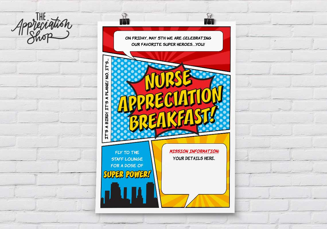 Nurse Appreciation Breakfast Poster - The Appreciation Shop