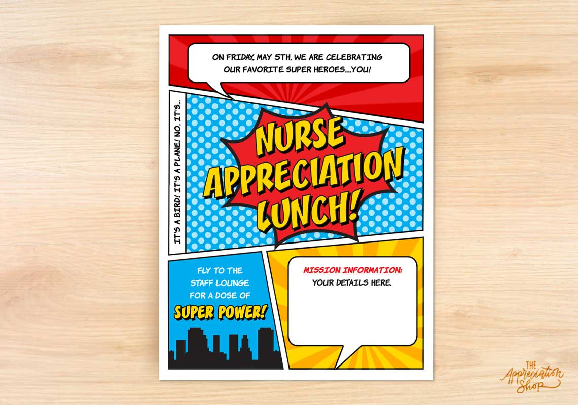 Nurse Appreciation Lunch Flyer - The Appreciation Shop