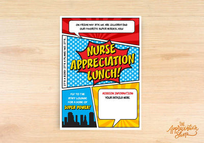 Nurse Appreciation Lunch Invitation - The Appreciation Shop