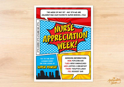 Nurse Appreciation Week Flyer - The Appreciation Shop