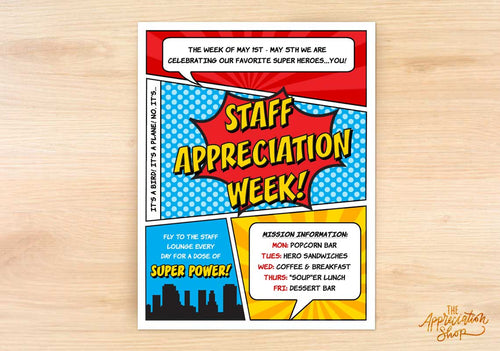 Staff Appreciation Week Flyer - The Appreciation Shop
