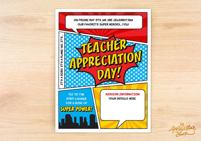 Teacher Appreciation Day Flyer - The Appreciation Shop