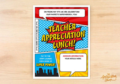Teacher Appreciation Lunch Flyer - The Appreciation Shop