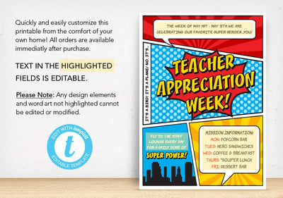 Teacher Appreciation Week Poster - The Appreciation Shop