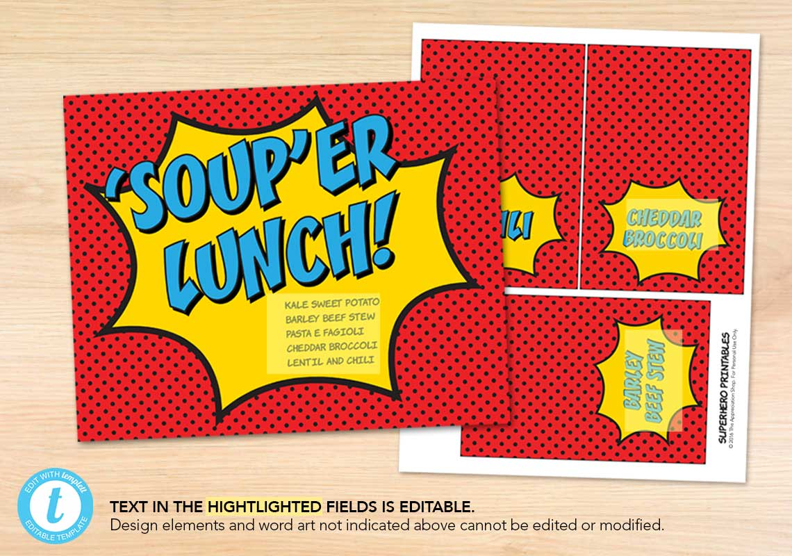 'SOUP'er Lunch Printables - The Appreciation Shop