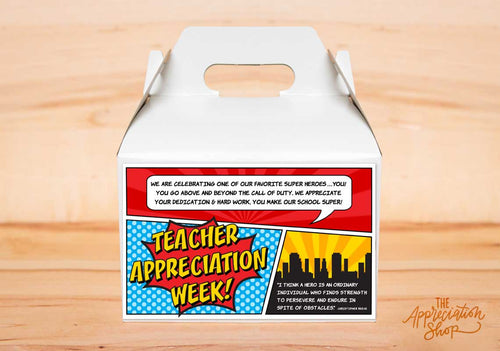 Teacher Appreciation Week Gable Box Label - The Appreciation Shop