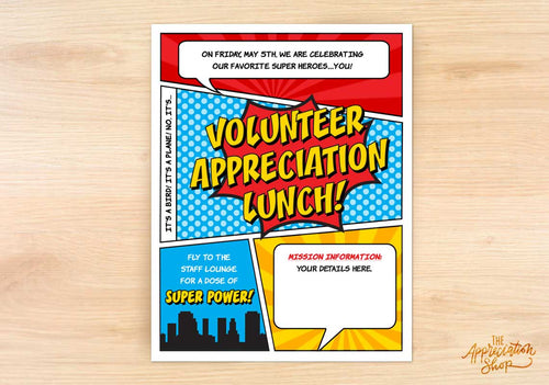 Volunteer Appreciation Lunch Flyer - The Appreciation Shop