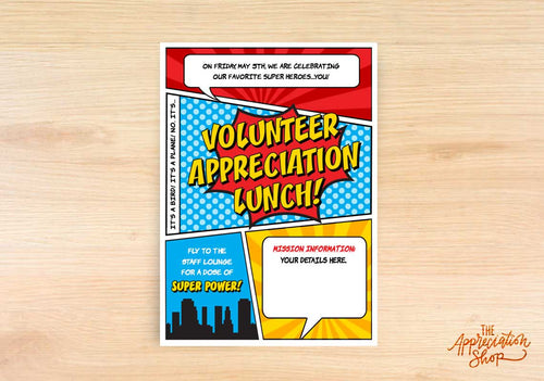 Volunteer Appreciation Lunch Invitation - The Appreciation Shop