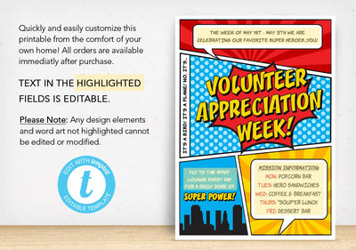 Volunteer Appreciation Week Flyer - The Appreciation Shop