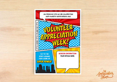 Volunteer Appreciation Week Invitation - The Appreciation Shop