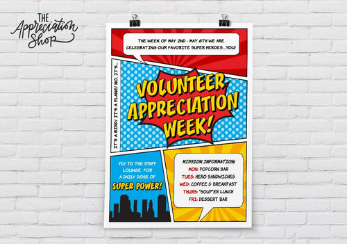 Volunteer Appreciation Week Poster - The Appreciation Shop