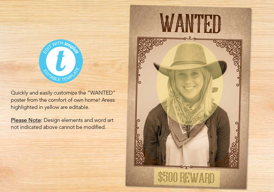"Customizable ""Wanted"" Poster and Sign - The Appreciation Shop"