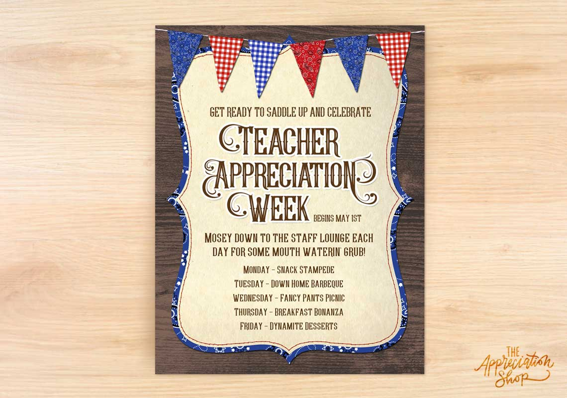 Teacher Appreciation Week Flyer - The Appreciation Shop