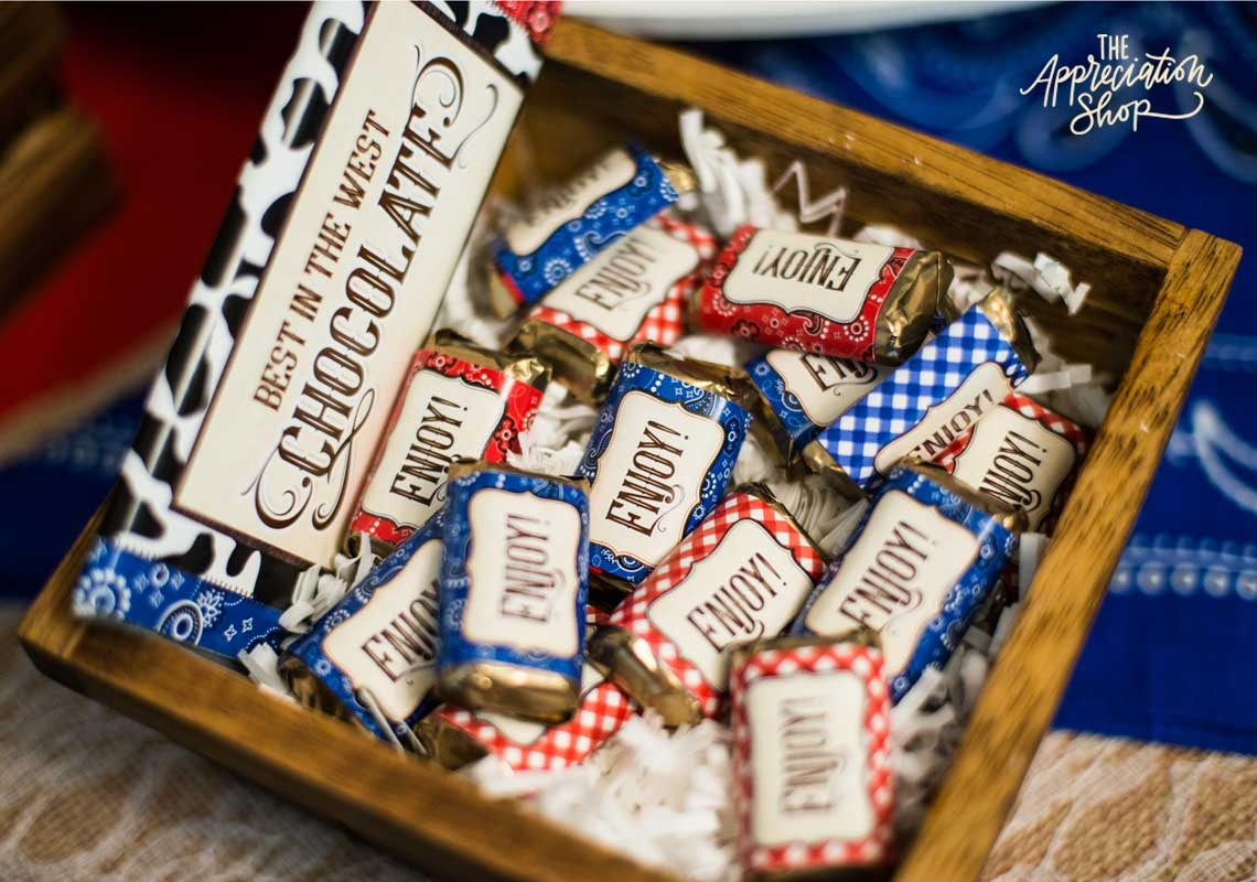"""Best in the West"" Candy Bar Wrappers - The Appreciation Shop"