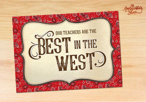 """Best in the West"" Customizable Poster - The Appreciation Shop"