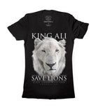 King Ali Ladies V-Neck T-Shirt (Black)