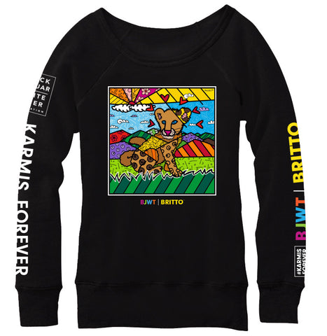 Karma By BRITTO™ V-neck T-Shirt (Black)