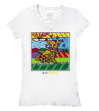 Karma By BRITTO™ Ladies V-Neck (White)