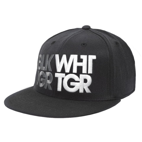 Black/White Bold 3D Fitted Hat