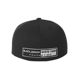 Black/White 3D Fitted Hat