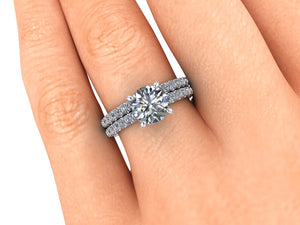 1.20 Carat Round Cut NEO Moissanite Engagement Ring