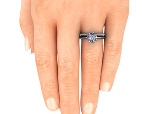 Contemporary Bridal Set Moissanite and Lab Grown Diamonds Recycled Platinum