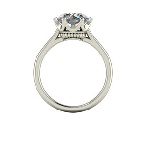 2.25 Carat Forever One Moissanite Solataire Engagement Ring Crown Setting