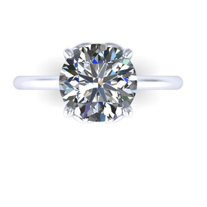 3.10 Carat Moissanite Solitaire Engagement Ring Heart Shape Setting