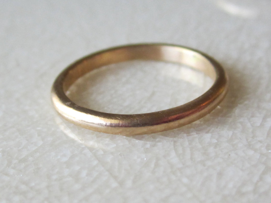 Gold Wedding Band,  Recycled 14K Solid Recycled Yellow Gold