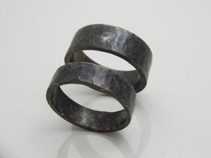 Recycled Sterling Silver Wedding Bands for Him and Her