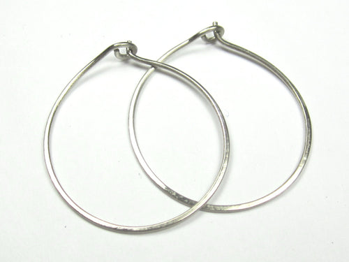 14K White Gold Hoop Earrings Handmade by DKB Jewelry Designs