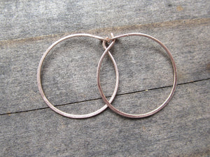 14K Rose Gold Hoop Earrings Handmade by DKB Jewelry Designs