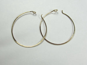 Solid Gold Hoop Earrings 14K Recycled Yellow Gold