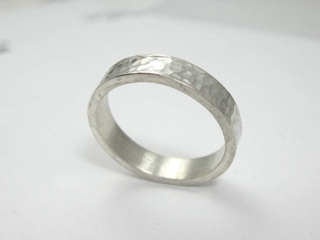 Eco Friendly Recycled Palladium Sterling Silver Wedding Band
