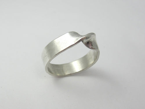 Sterling Silver Mobius Ring Eternity Ring Recycled Argentium Sterling Silver