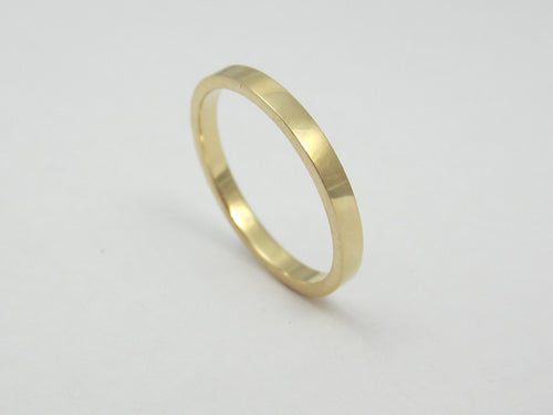 Skinny Gold Wedding Band 14K Yellow Gold Recycled Gold Eco Friendly